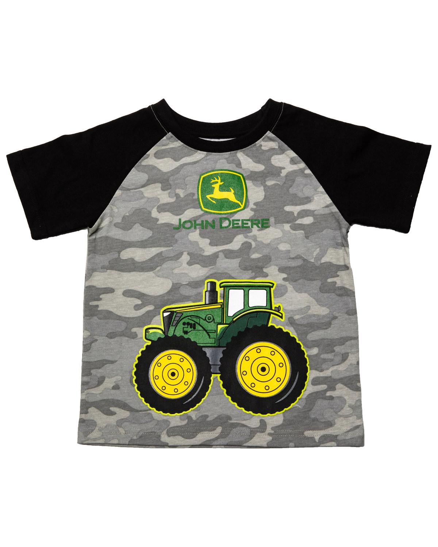 2050254f8 John Deere Boys' Camo Big Wheel Tractor Graphic T-Shirt | Boot Barn
