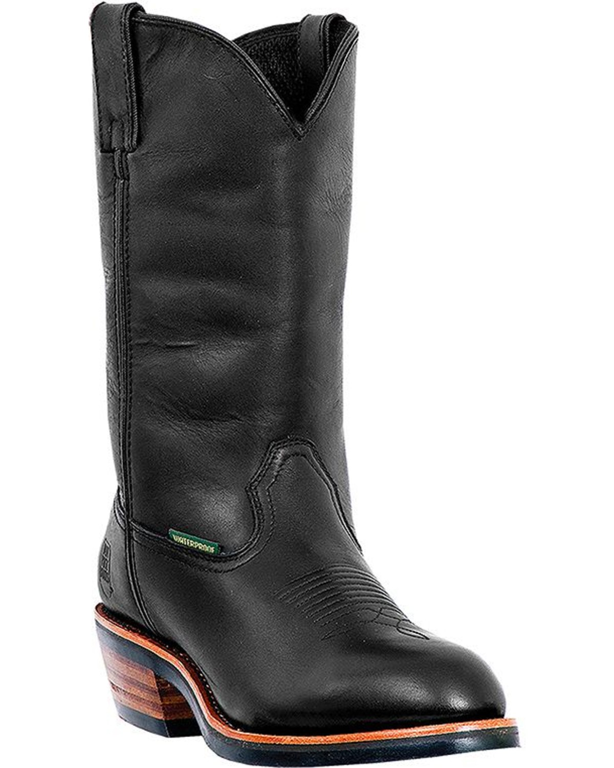 63b0953bc Zoomed Image Dan Post Men's Albuquerque Waterproof Western Work Boots,  Black, hi-res