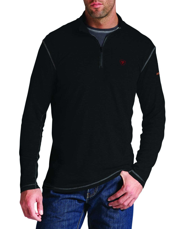 Ariat Womens Flame Resistant Polartec 1//4 Zip FleeceShirt