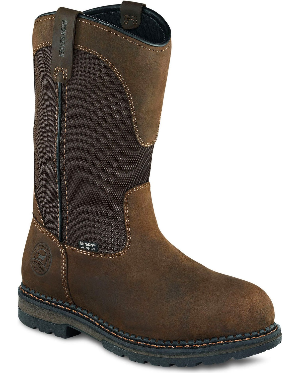 2b672b8e2fd Irish Setter by Red Wing Shoes Men's Ramsey EH Waterproof Pull-On Work  Boots - Aluminum Toe