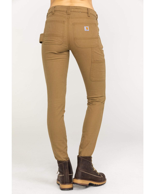 d3fb9cf066b Zoomed Image Carhartt Women's Slim-Fit Crawford Pants , Tan, ...