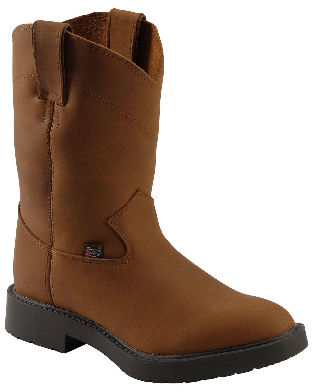 e0e4966e59c1 Justin Juniors Youth Western Work Boots