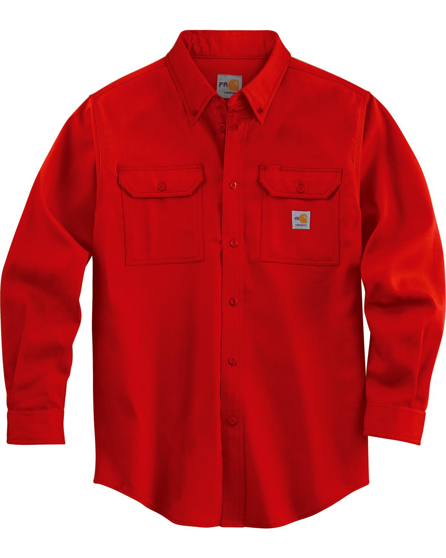 a2531d048237 Carhartt Men s Red Flame Resistant Lightweight Twill Shirt - Big ...
