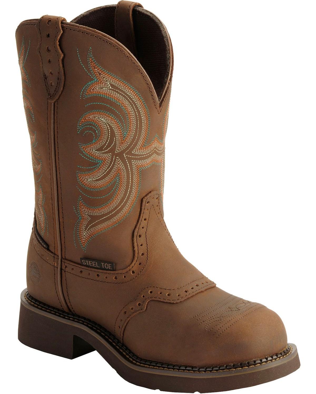 Justin Gypsy Women s Waterproof Steel Toe Work Boots  bad336995