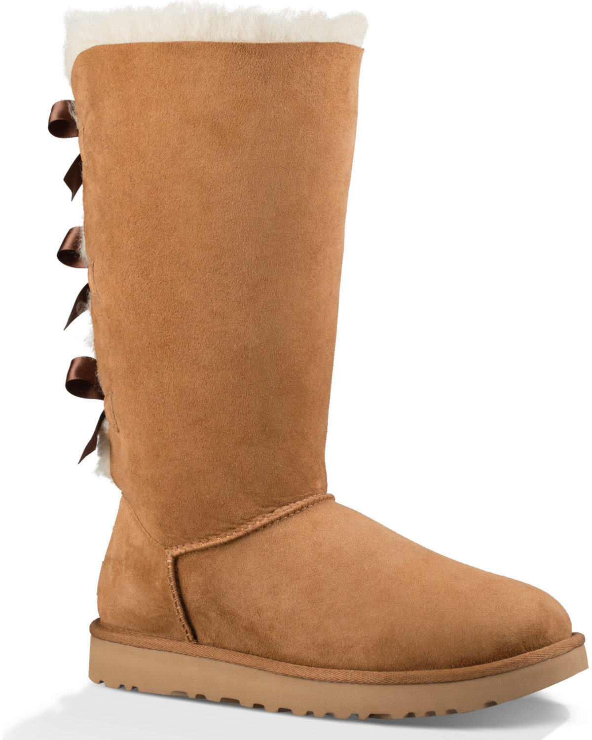 159f1a9abe5 UGG Women's Chestnut Bailey Bow Tall II Boots - Round Toe