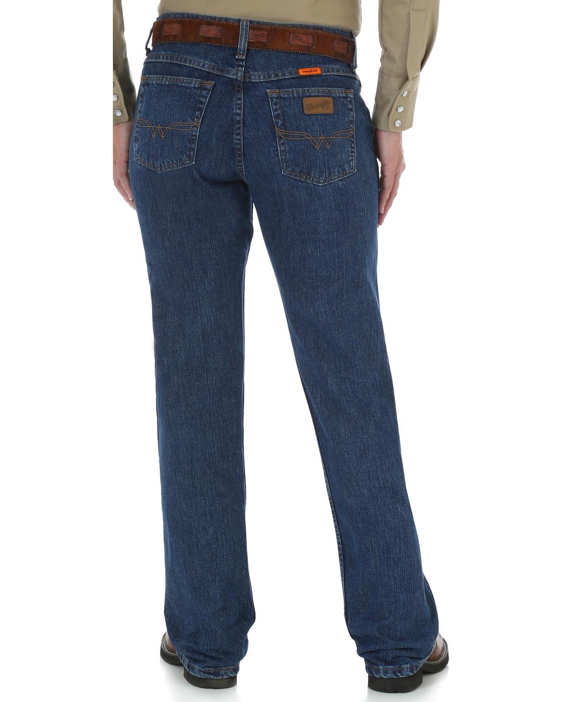 4d4ee975 Zoomed Image Wrangler Women's FR Flame Resistant Work Jeans , Blue, ...
