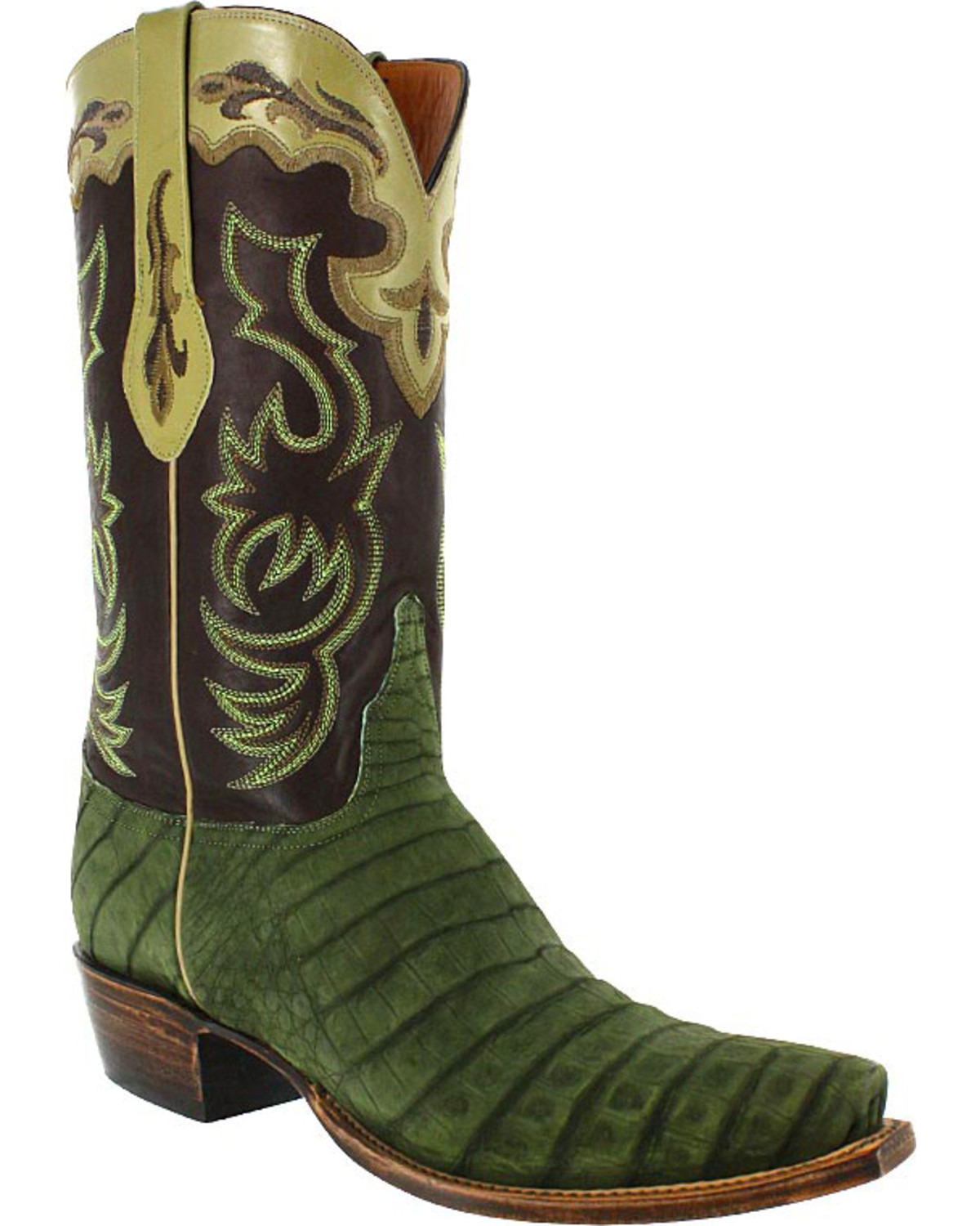 29fd8df2ccc Lucchese Men's Caiman and Suede Western Boots