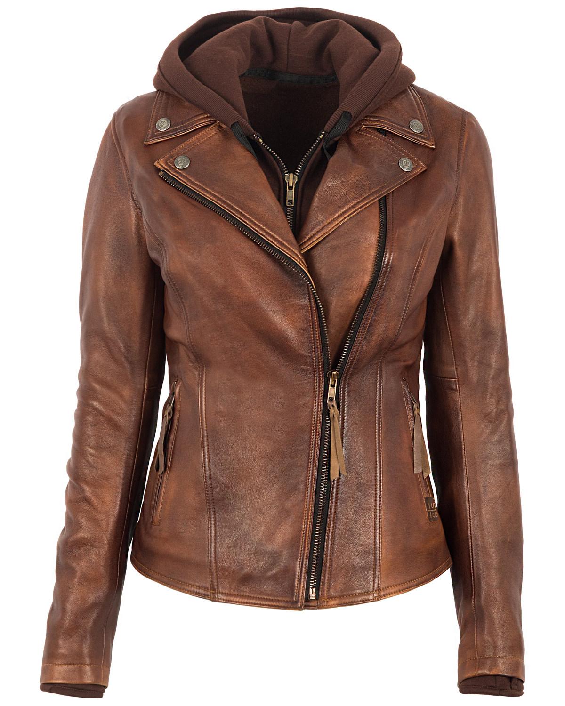 Sts Ranchwear Women S Brown Wanderlust Moto Leather Jacket
