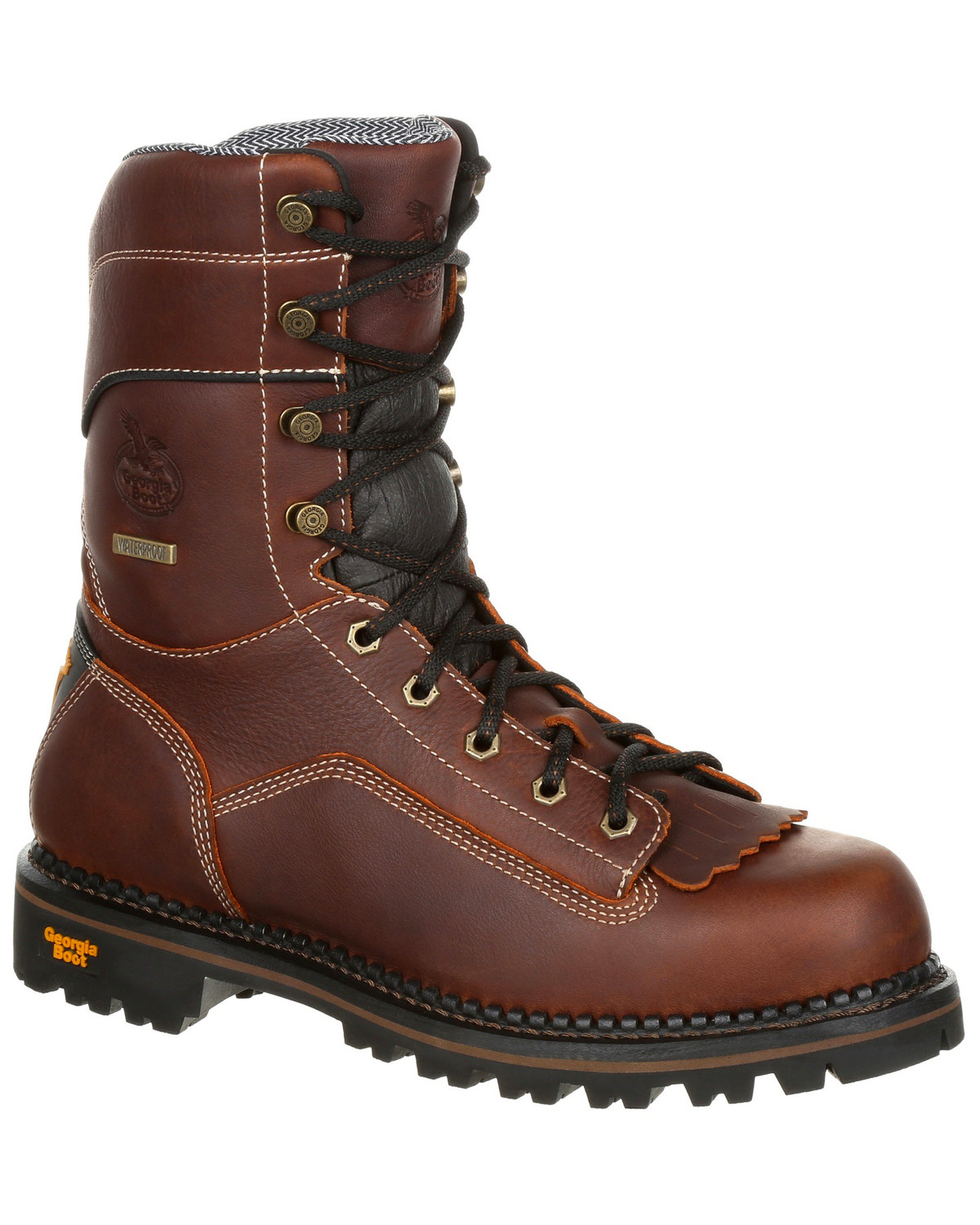 42d97040794 Georgia Boot Men's Amp LT Waterproof Low Heel Work Boots - Composite Toe
