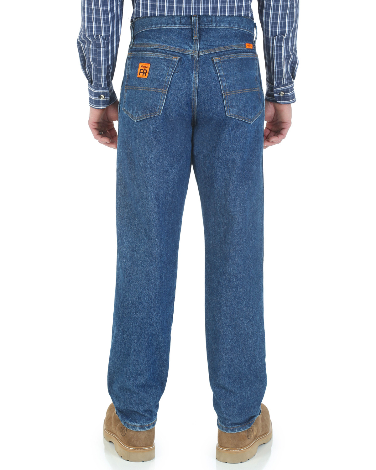15341bee Zoomed Image Wrangler Men's Flame Resistant Relaxed Fit Jeans , Indigo,  hi-res. Zoomed Image ...