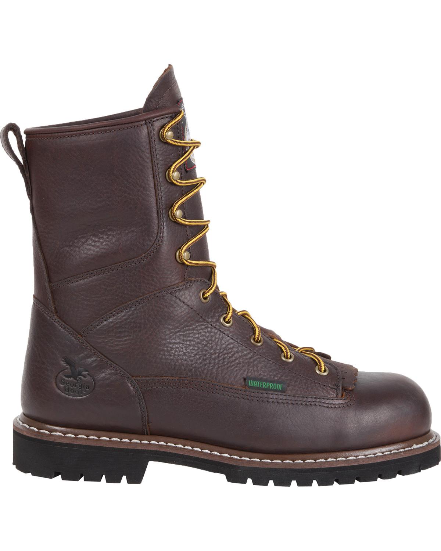 Georgia Waterproof 8 Quot Low Heel Logger Work Boots Boot Barn