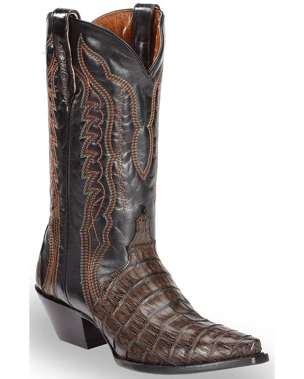 1e0e12b44ea Dan Post Women's Chocolate Caiman Triad Cowgirl Boots - Snip Toe