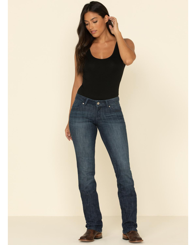 d0d4a540cbd Wrangler Women s Dark Wash Straight Leg Jeans