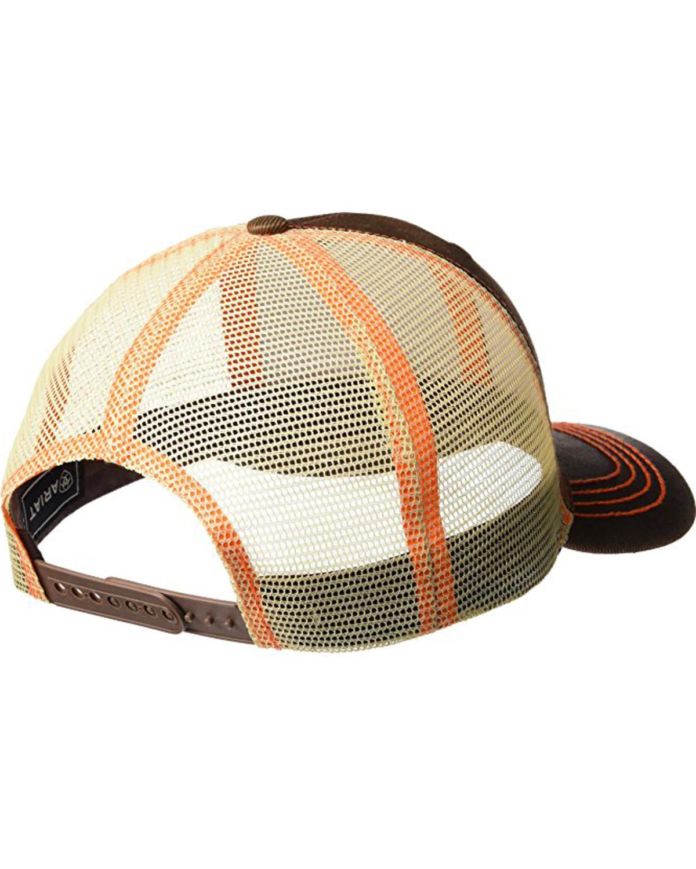 9f8db633488cf Ariat Men s Brown Oilskin Shield Logo Baseball Cap