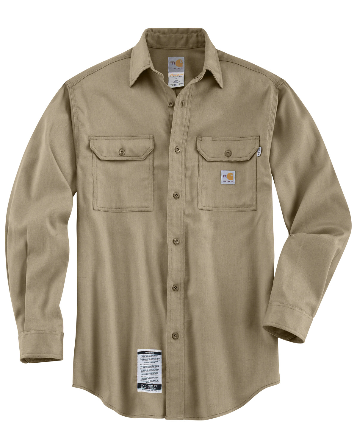 a200630acbb6 Carhartt Men s Long Sleeve Flame Resistant Dry Twill Work Shirt ...