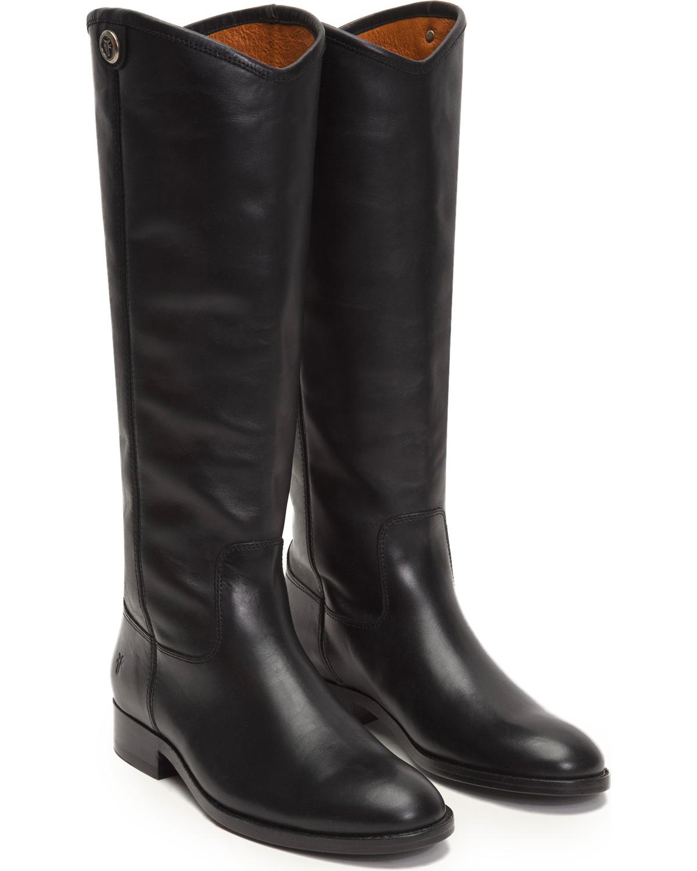 da6cde60e29 Frye Women's Black Melissa Button 2 Tall Boots - Round Toe