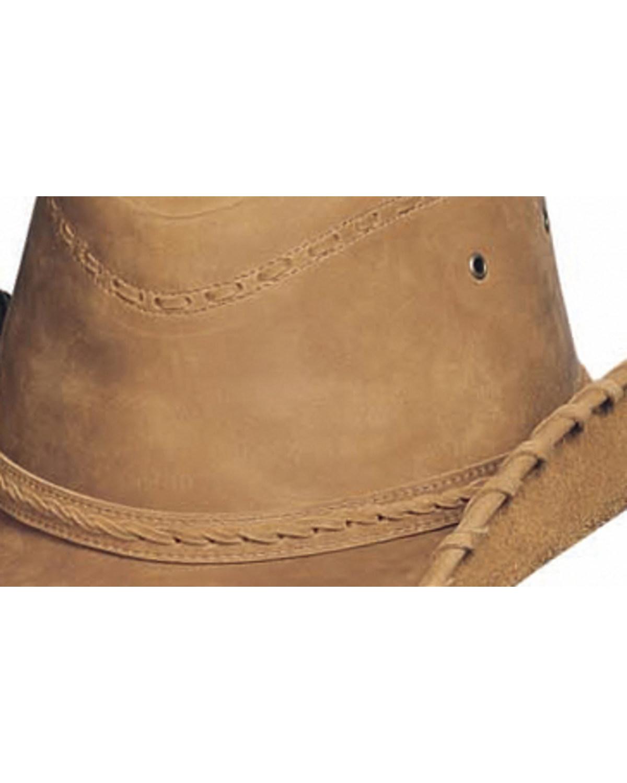 Bullhide Men s Sydney Leather Hat  ac9e27a2af07