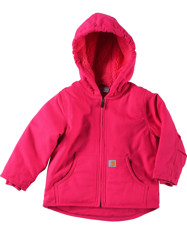 30b8aca8f6aa Carhartt Toddler Girls  Pink Redwood Sherpa Lined Jacket