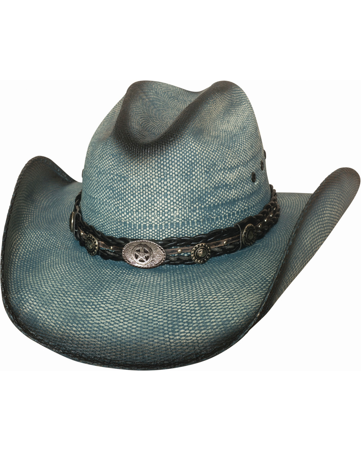 70f3ab9fd4e603 Zoomed Image Bullhide Women's Into You Straw Hat, Blue, hi-res