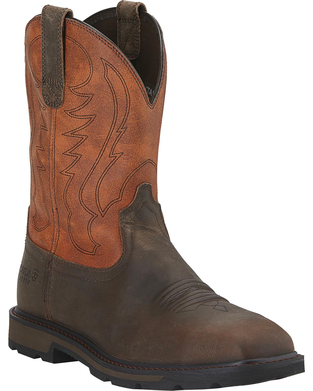 7898ad43273 Ariat Men's Groundbreaker Steel Toe Western Work Boots