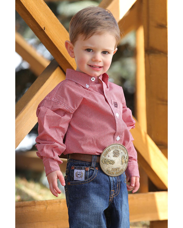 53b071b3b Zoomed Image Cinch Toddler Boys' Geo Print Long Sleeve Western Shirt ,  Multi, hi-res