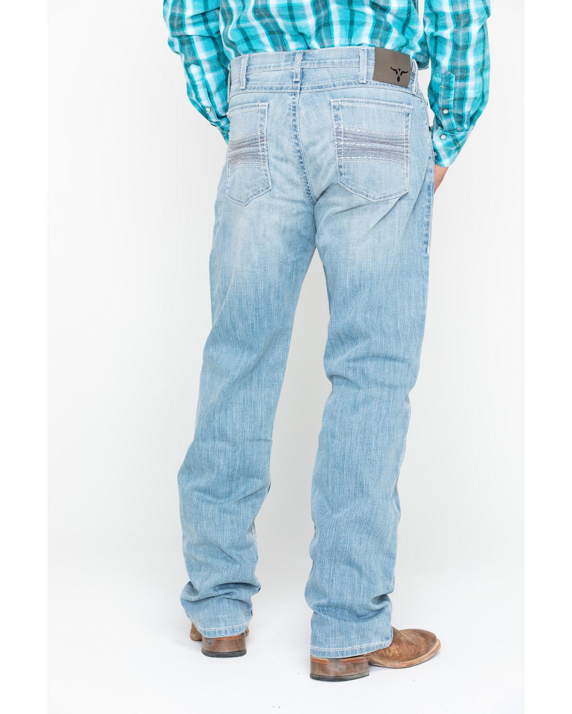 b63781f3b04 Zoomed Image Wrangler 20X Men's Roanoke Boot Cut Jeans, Blue, ...