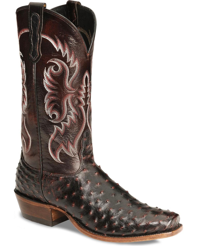 1d4fd465a1b Nocona Men's Full Quill Ostrich Western Boots