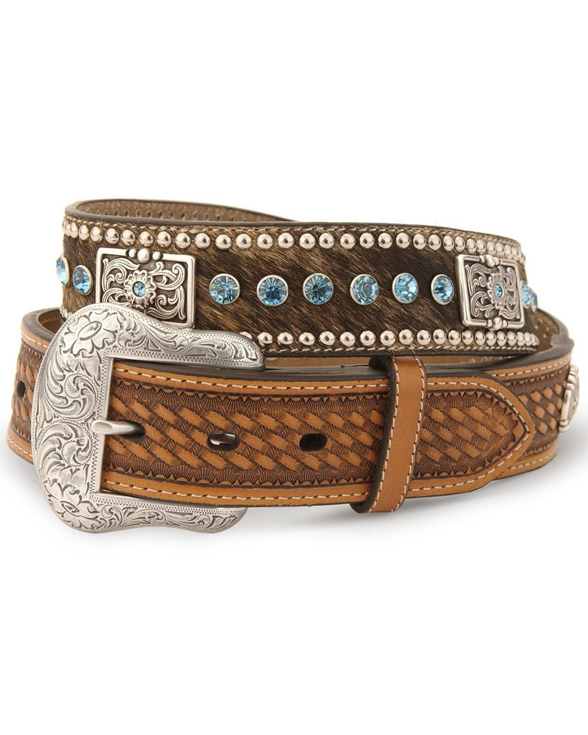 Nocona Belt Co Mens Hair On Hide Concho