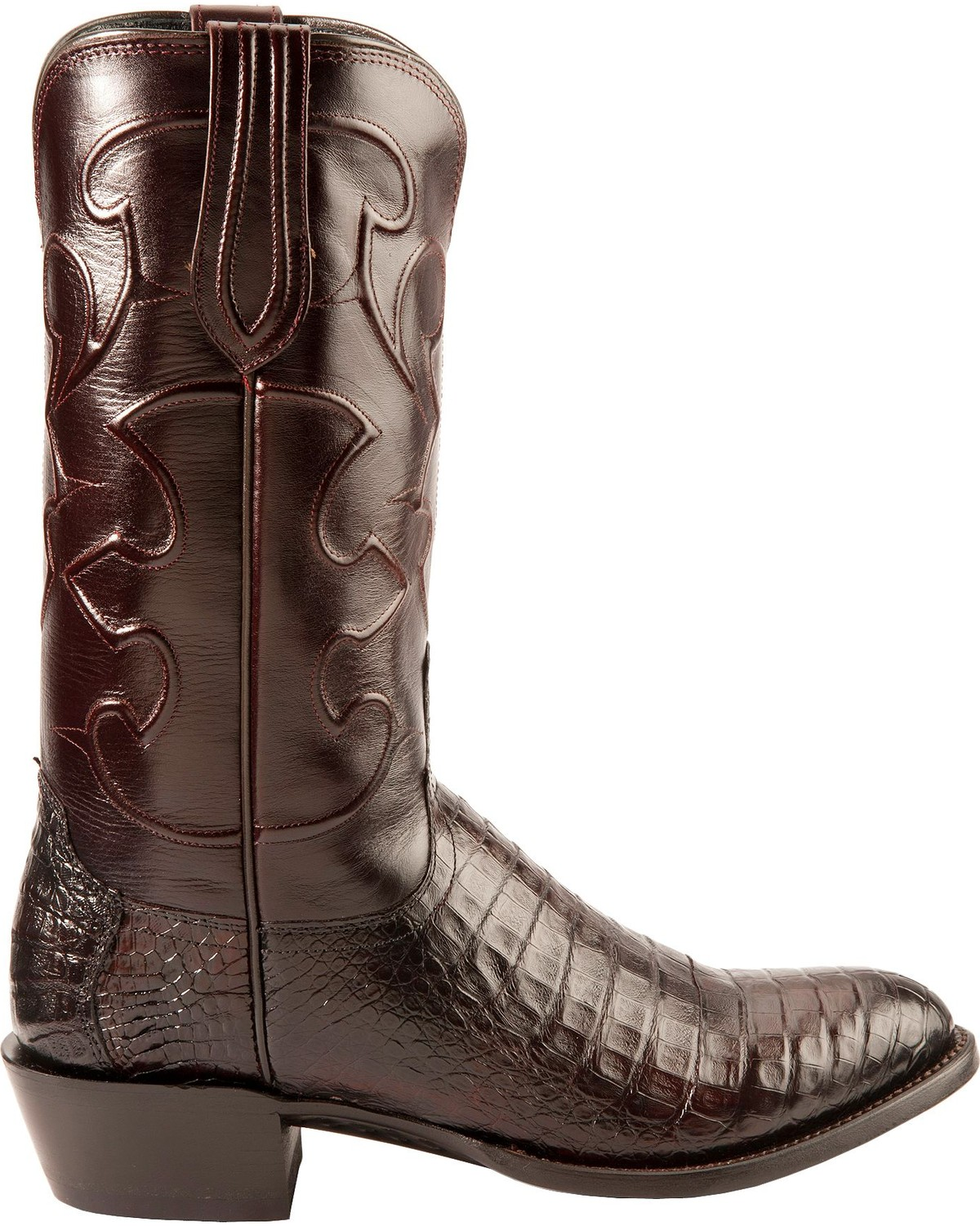 Lucchese Men S Charles Round Toe Crocodile Western Boots