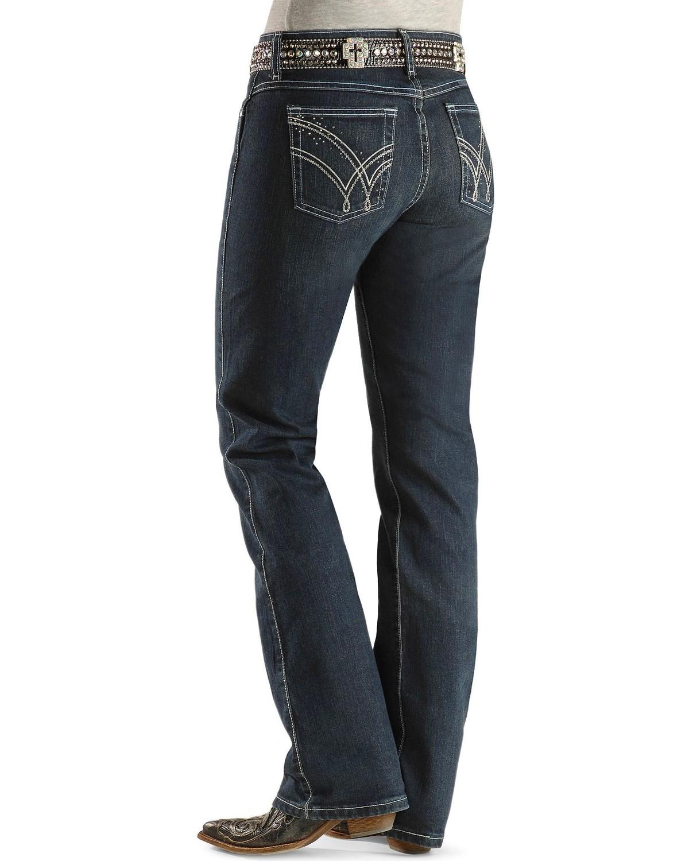 5c10f425 Zoomed Image Wrangler Women's Ultimate Riding Q-Baby Jeans, Denim, ...