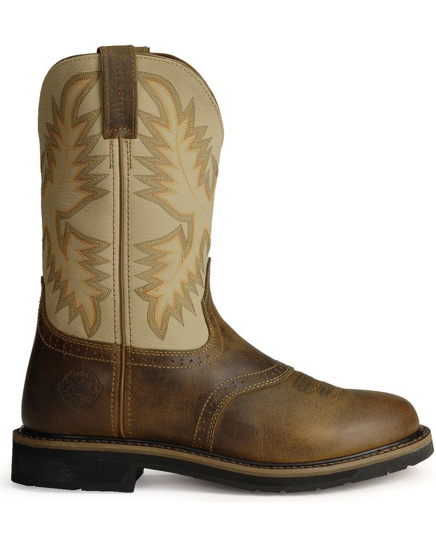 boots justin toe soft steel boot mens barn bootbarn