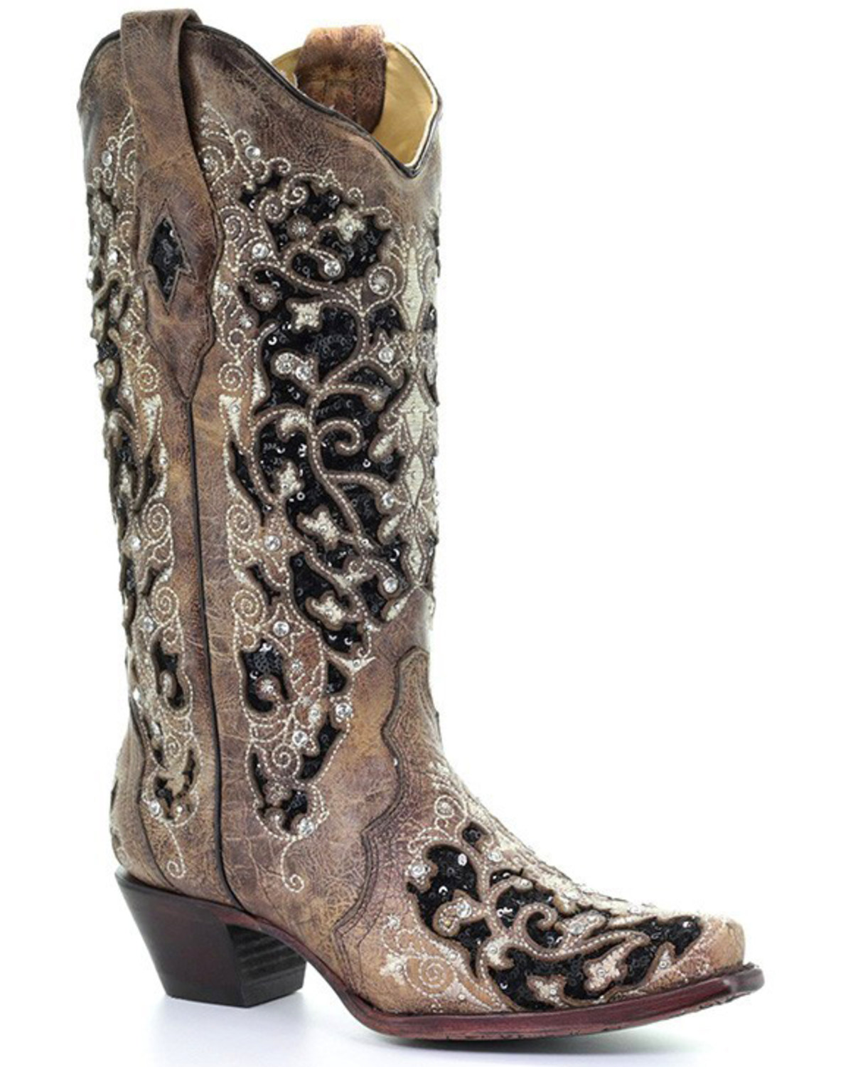 ca4d1dff482 Corral Women's Floral Embroidered Western Boots - Snip Toe