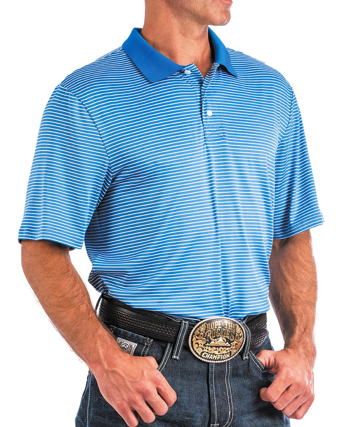 641014366a9 Cinch mens arenaflex blue striped athletic polo boot barn JPG 1200x1500 Arenaflex  cinch athletic logo