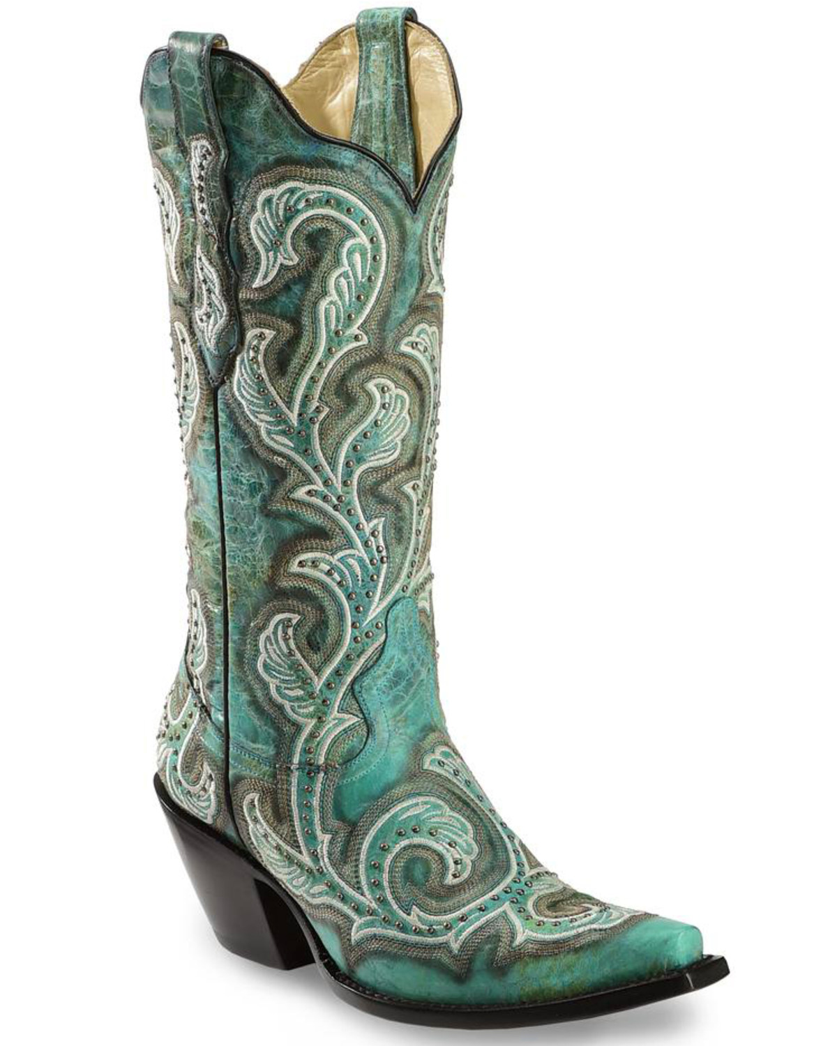 517ff5e4cc3 Corral Women s Stud   Embroidery Western Boots