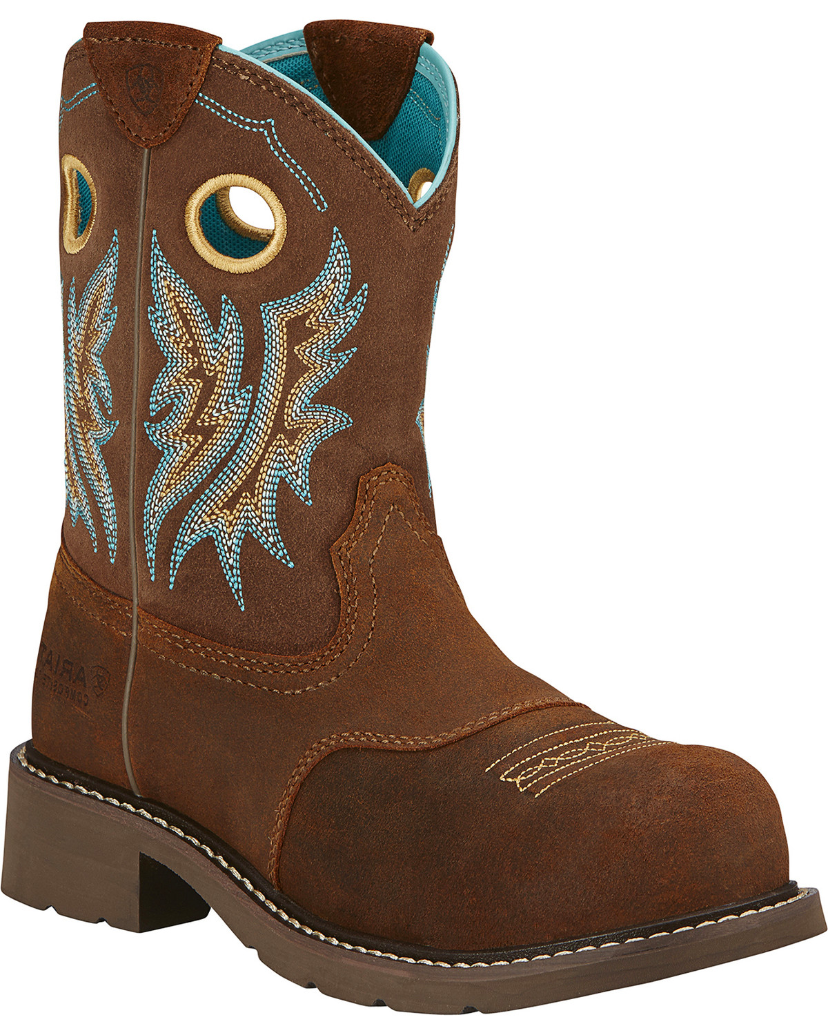 c9bf794625397 Zoomed Image Ariat Women's Fatbaby Cowgirl Western Work Boots, Tan, ...