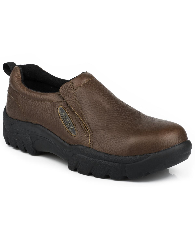 91a75301b7f Roper Men's Slip-On Work Shoes - Steel Toe