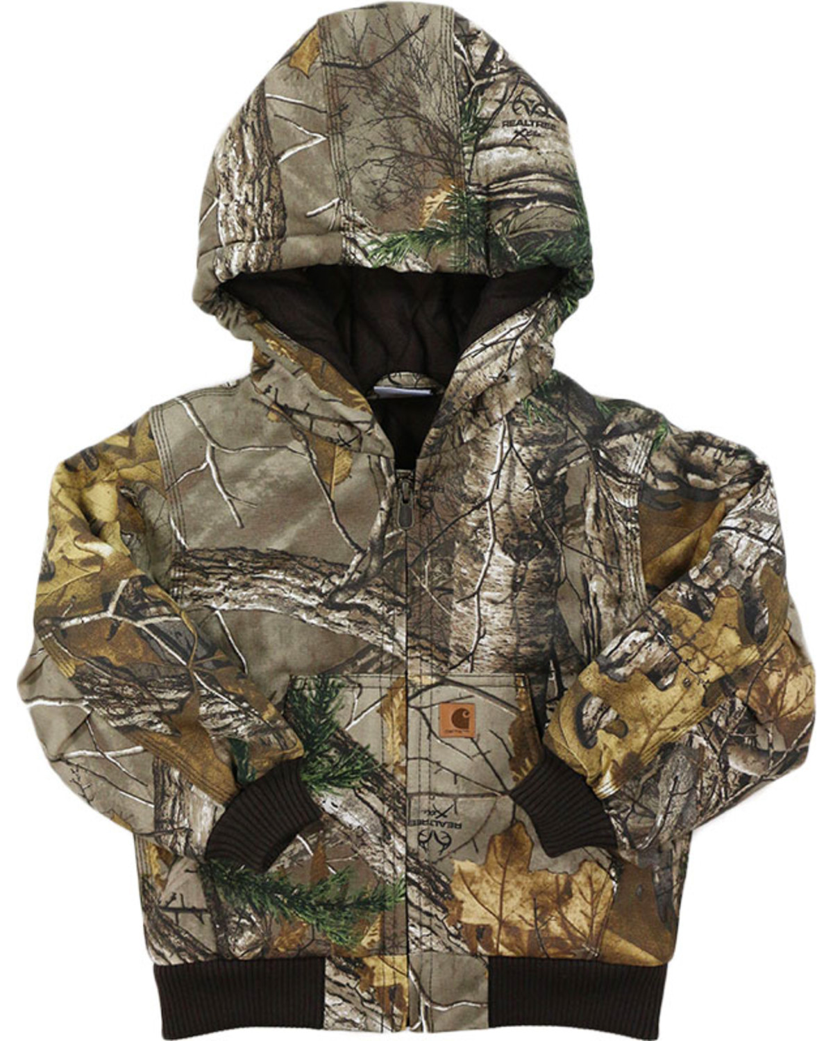 4aab50774eb8a Zoomed Image Carhartt Toddler's Realtree Xtra Camo Jacket, Brown, ...