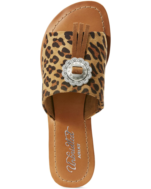 be76182269e2 Ariat Women s Unbridled Ellie Leopard Print Sandals