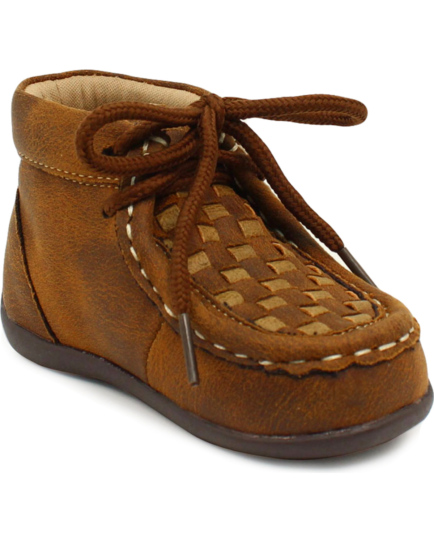 2e8cd3551 Zoomed Image Double Barrel Boys' Brown Carson Chukka Shoes, Brown, hi-res