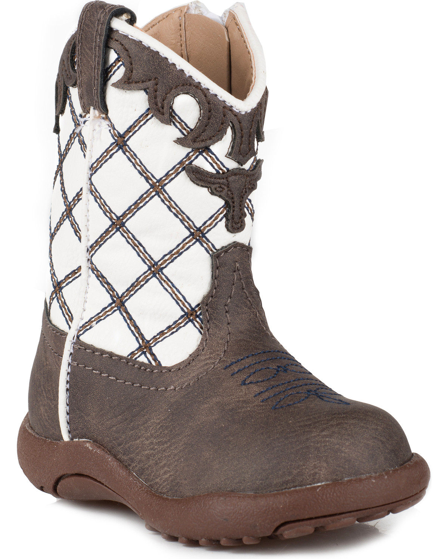 ba47e3a4810 Roper Infant Boys  Cowbaby Steerhead Pre-Walker Cowboy Boots - Round ...