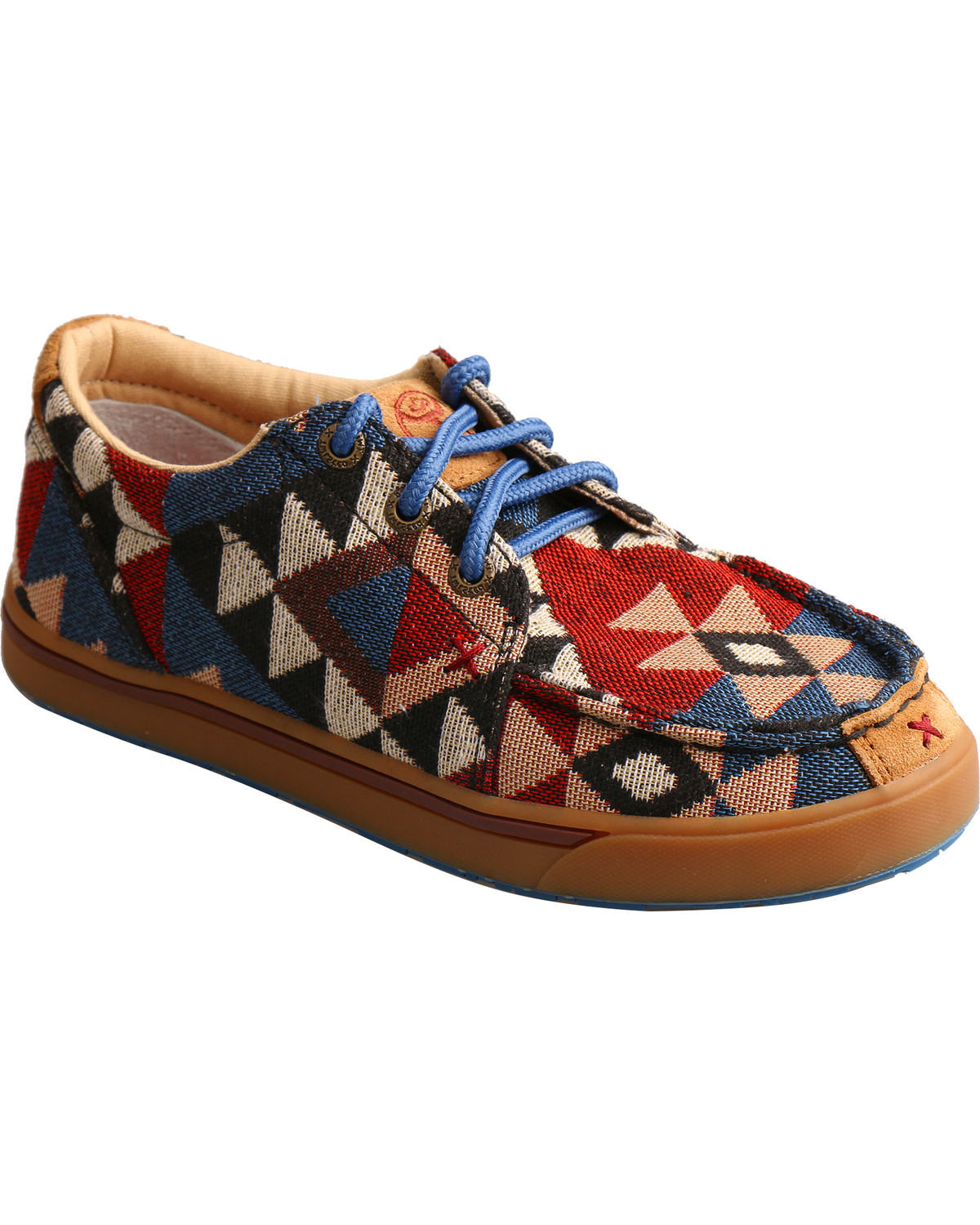 d7745a632f71 Zoomed Image Hooey Lopers by Twisted X Youth Boys' Pattern Canvas Shoes -  Moc Toe, Multi
