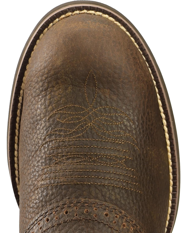 Justin Men S 11 Quot Stampede Cattleman Western Boots Boot Barn