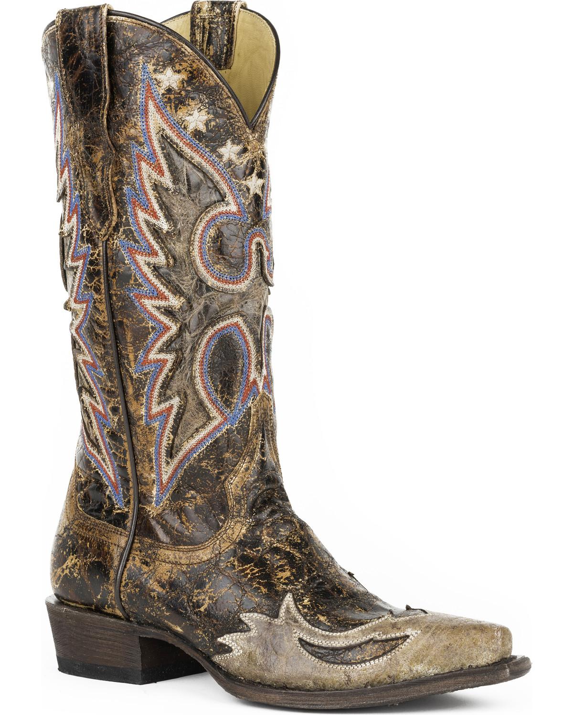bf418165694 Stetson Women's Eagle Reagan Western Boots - Snip Toe