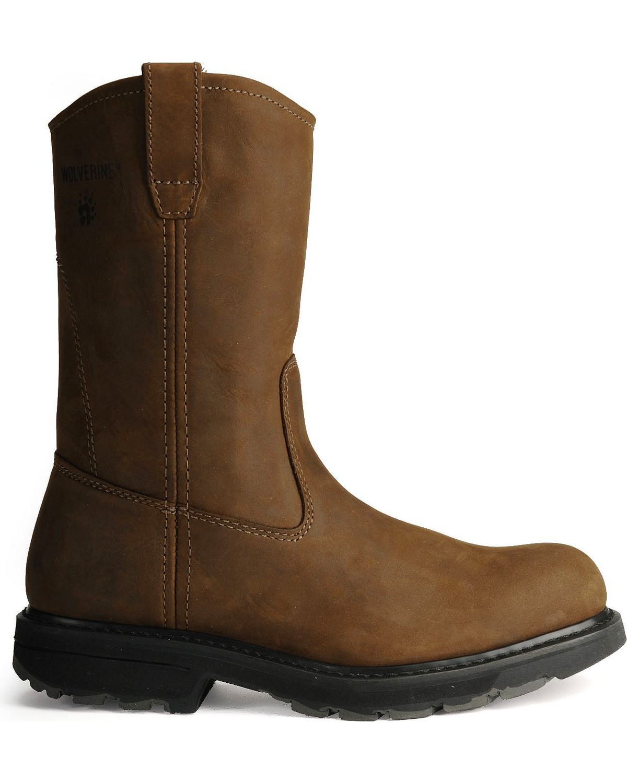 Wolverine Men s Plain Toe Slip Resistant Wellington Boots  1a7153dc6bc8