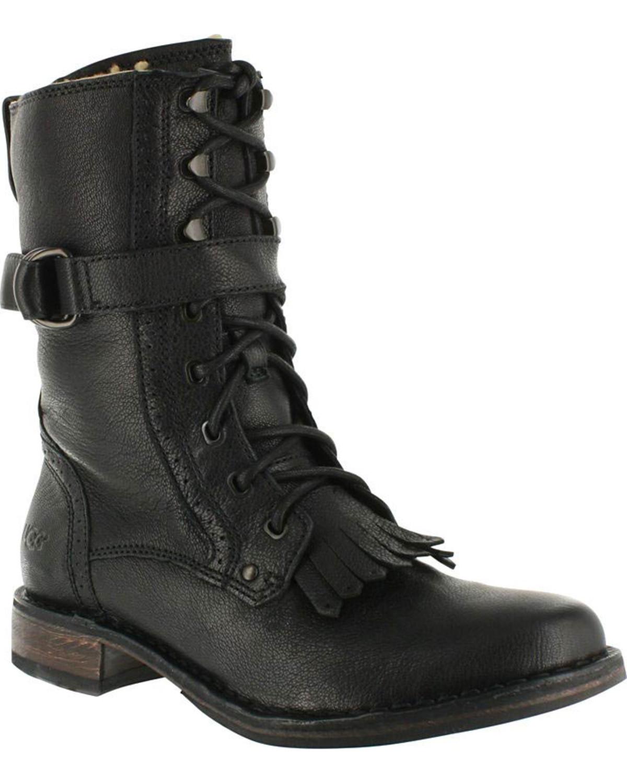 UGG Women's Black Jenna Military Boots