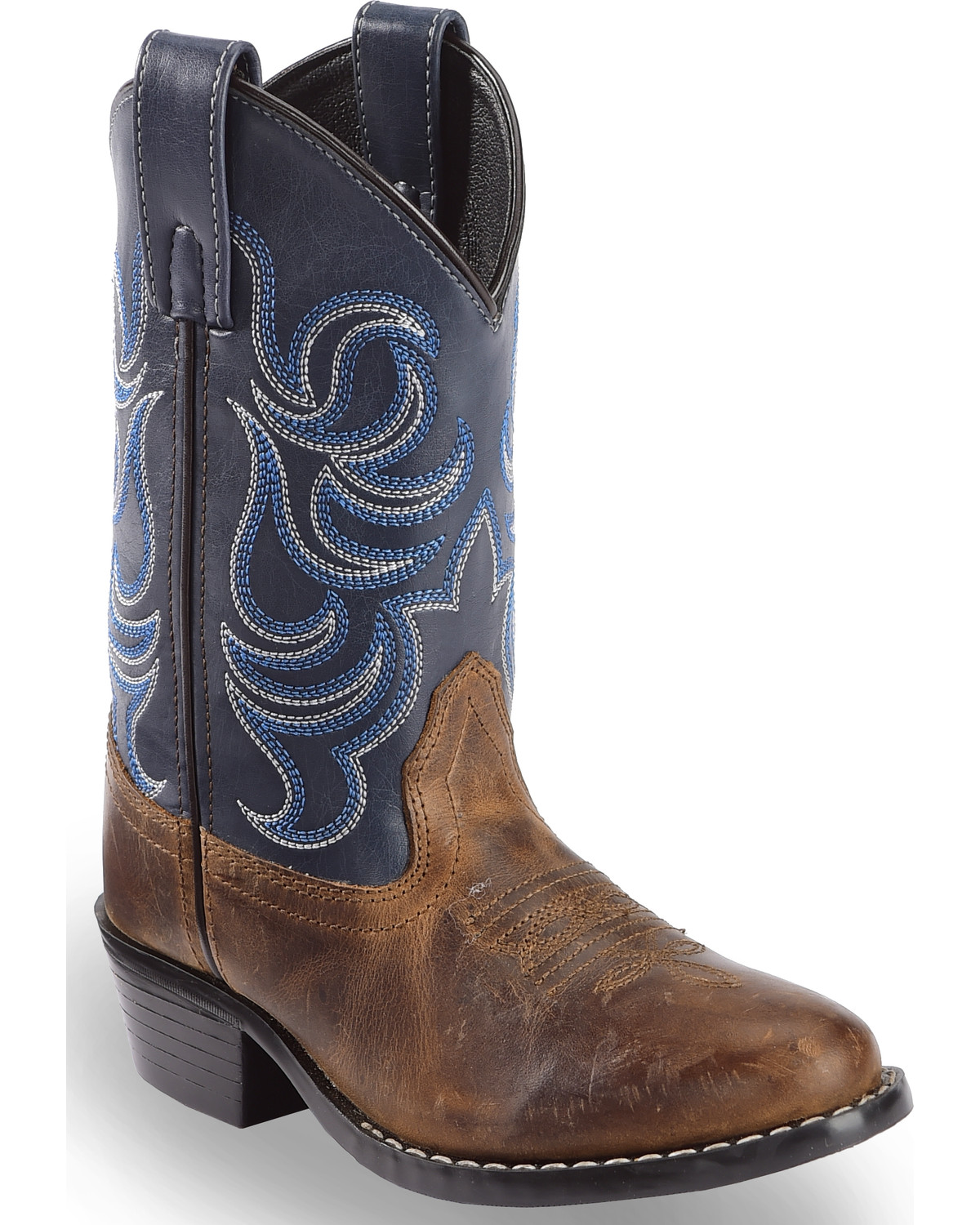 Cody James Boys Two Tone Embroidered Western Boots
