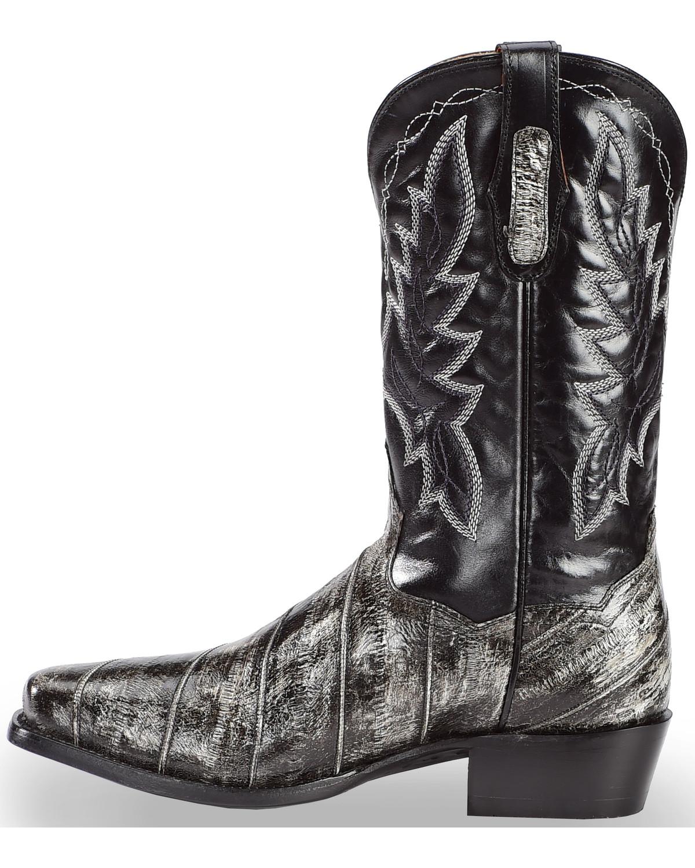 Dan Post Men S Eel Cowboy Boots Square Toe Boot Barn