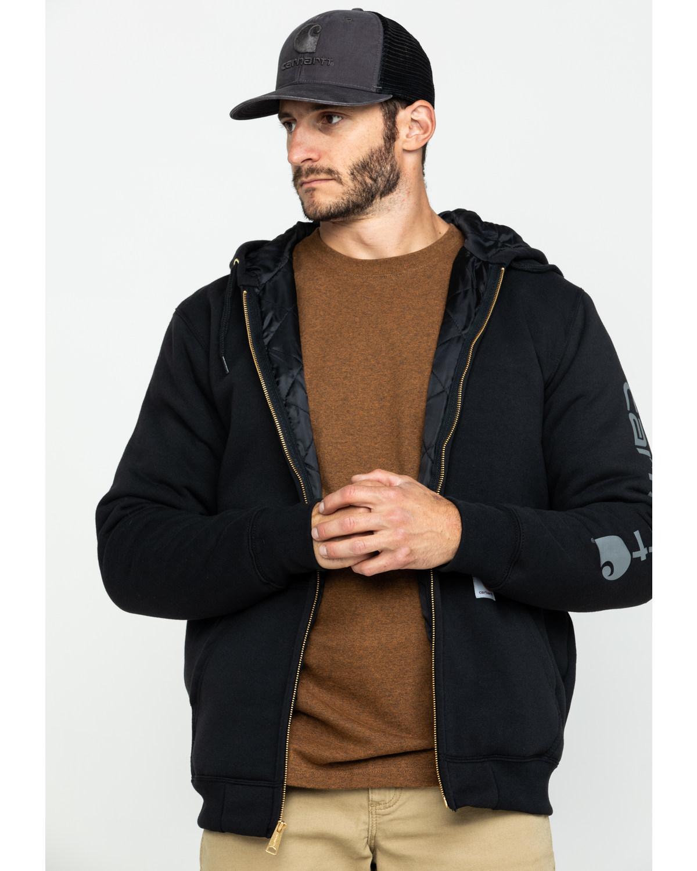 Carhartt Mens MidWeight Hooded Zip Front Sweatshirt