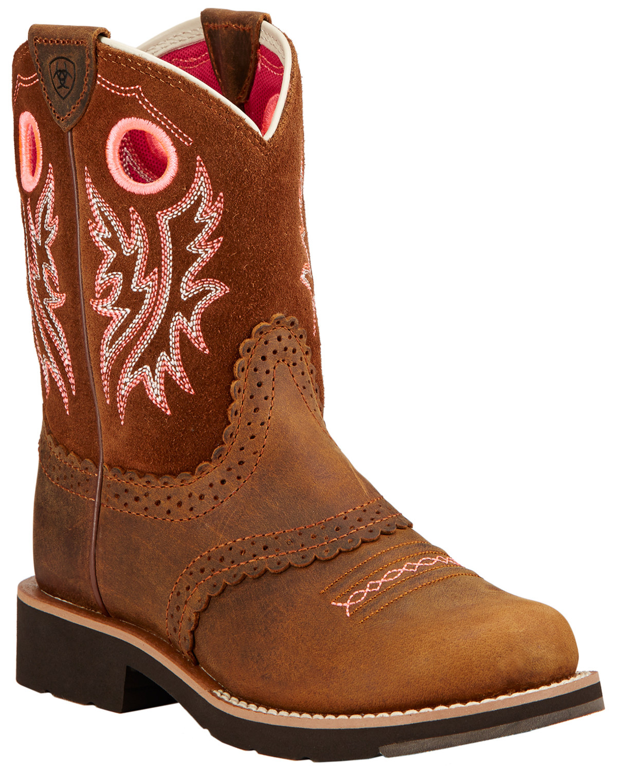 100% authentic 035ea 886b7 Ariat Kid's Fat Baby Round Toe Western Boots