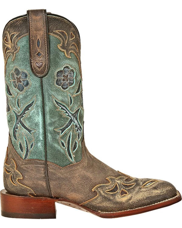 Dan Post Women S Cowgirl Certified Blue Bird Square Toe